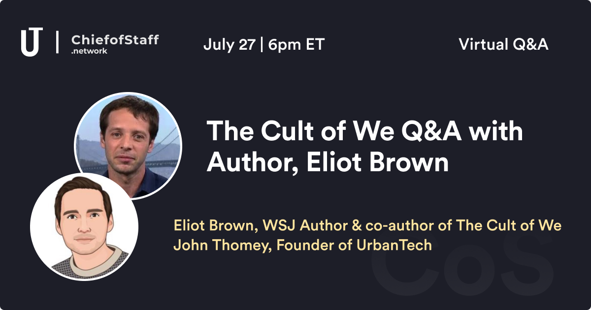 The Cult of We Q&A w/ Author, Eliot Brown