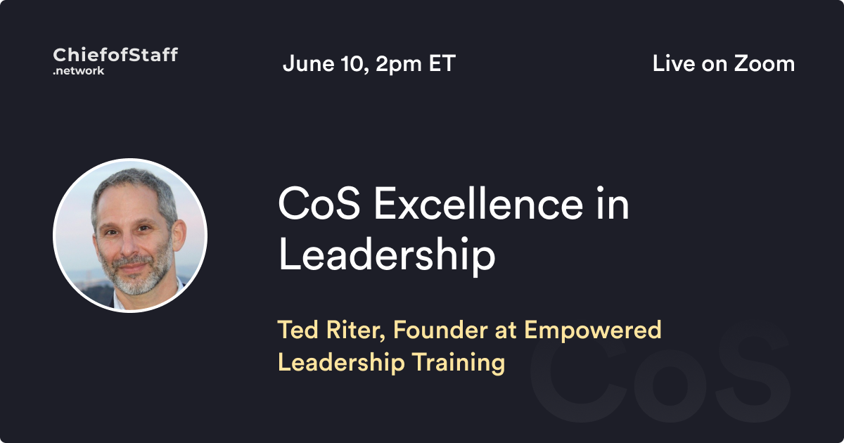 CoS Excellence in Leadership