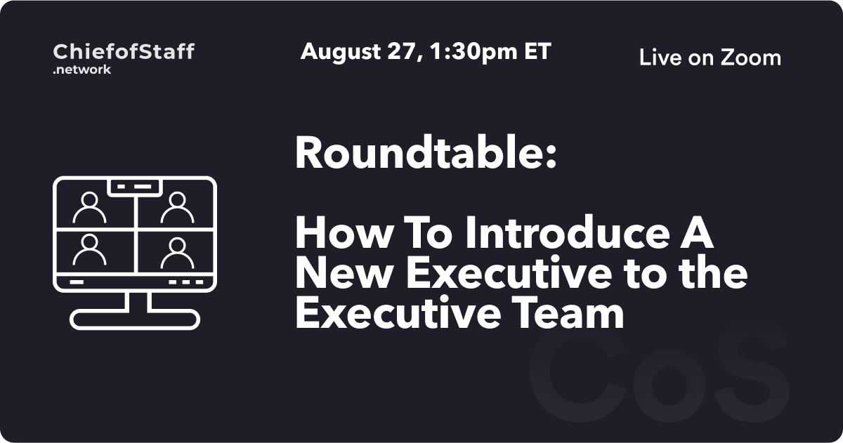How To Introduce A New Executive to the Executive Team