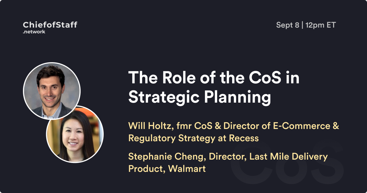 The Role of the CoS in Strategic Planning
