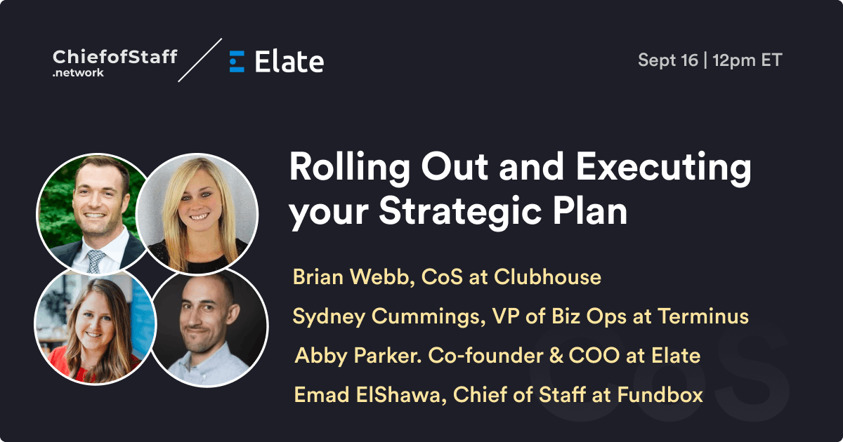 Rolling Out and Executing Your Strategic Plan