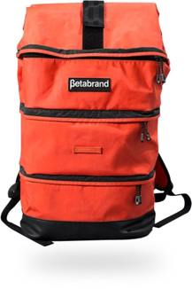 red backpack by Betabrand