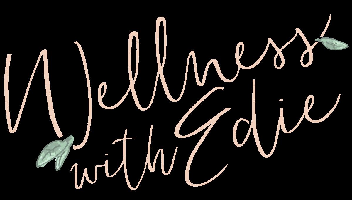 """Wellness with Edie"" logo"