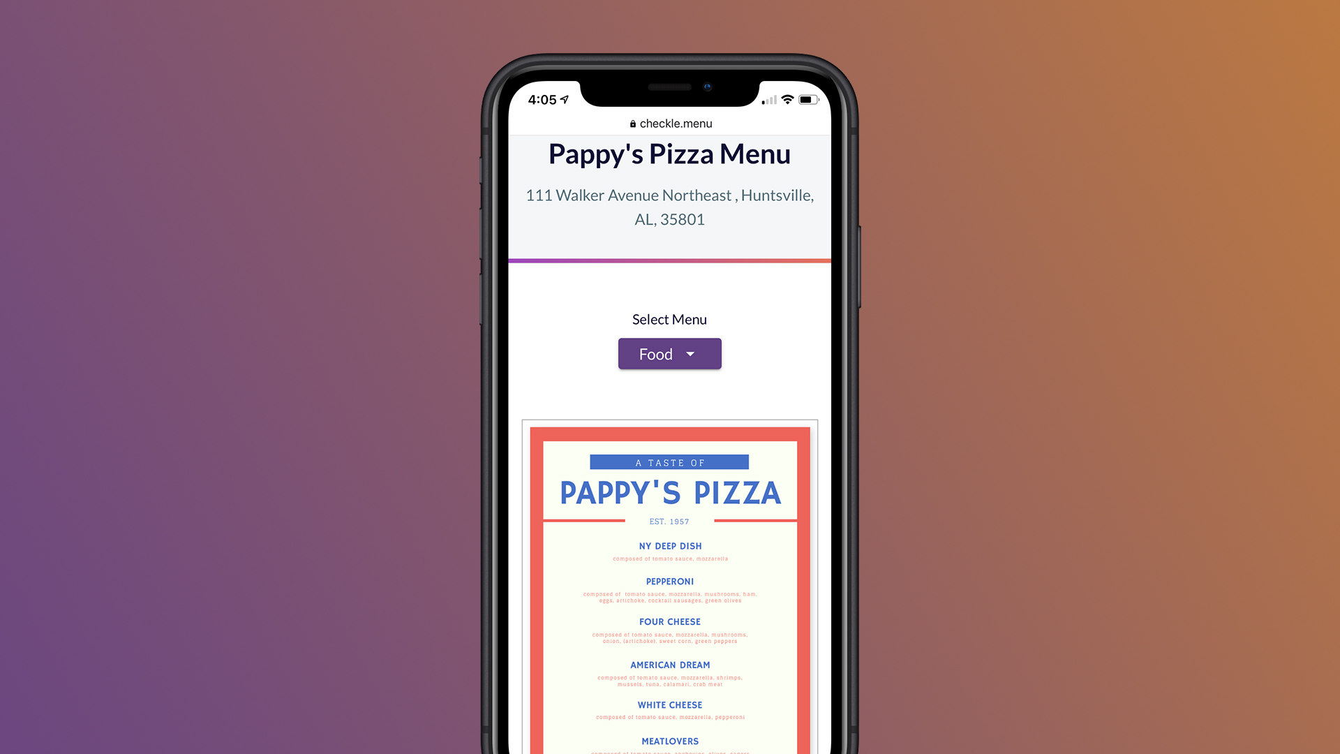 Mobile Friendly Restaurant Menus