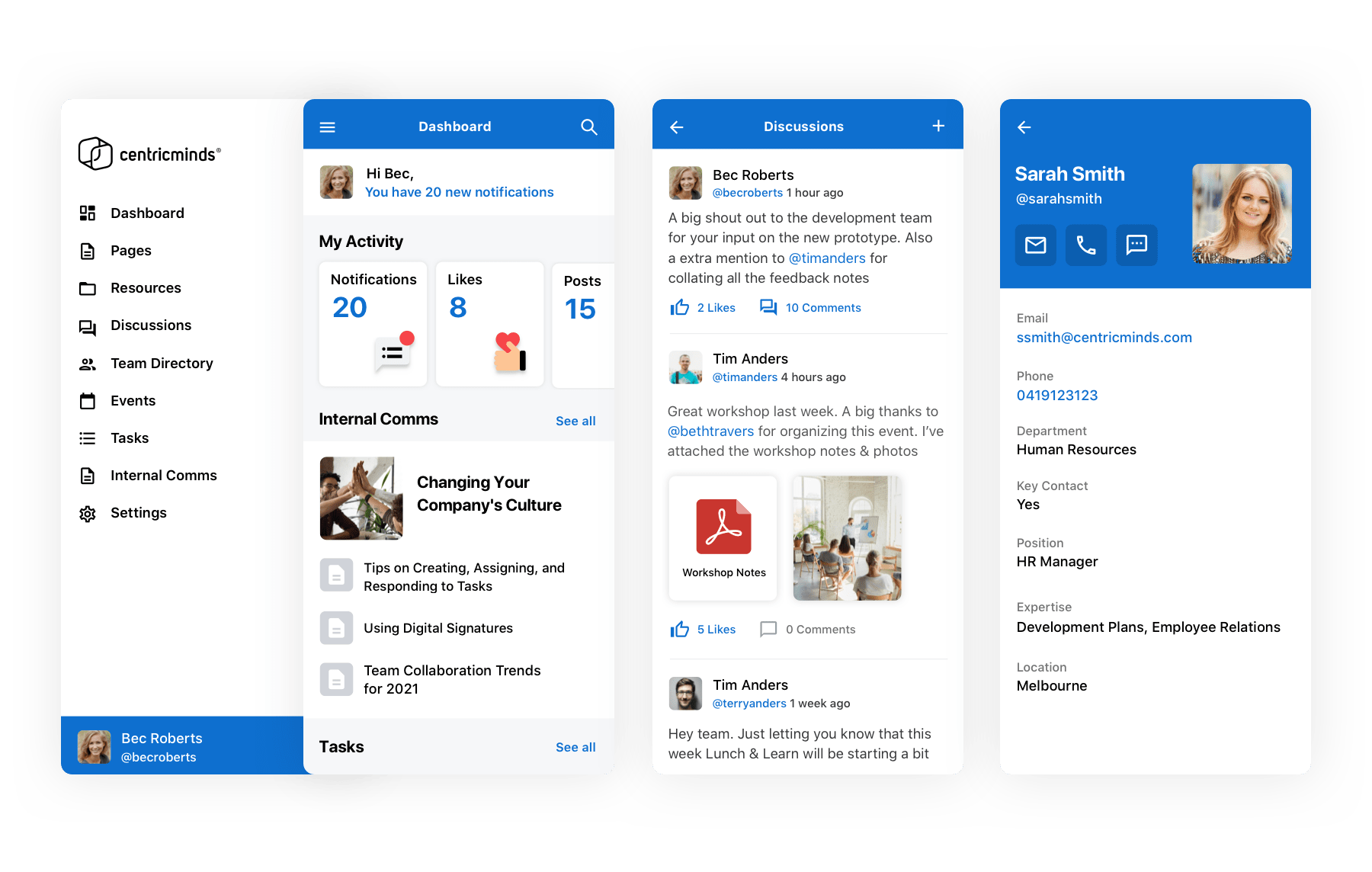 CentricMinds Employee App