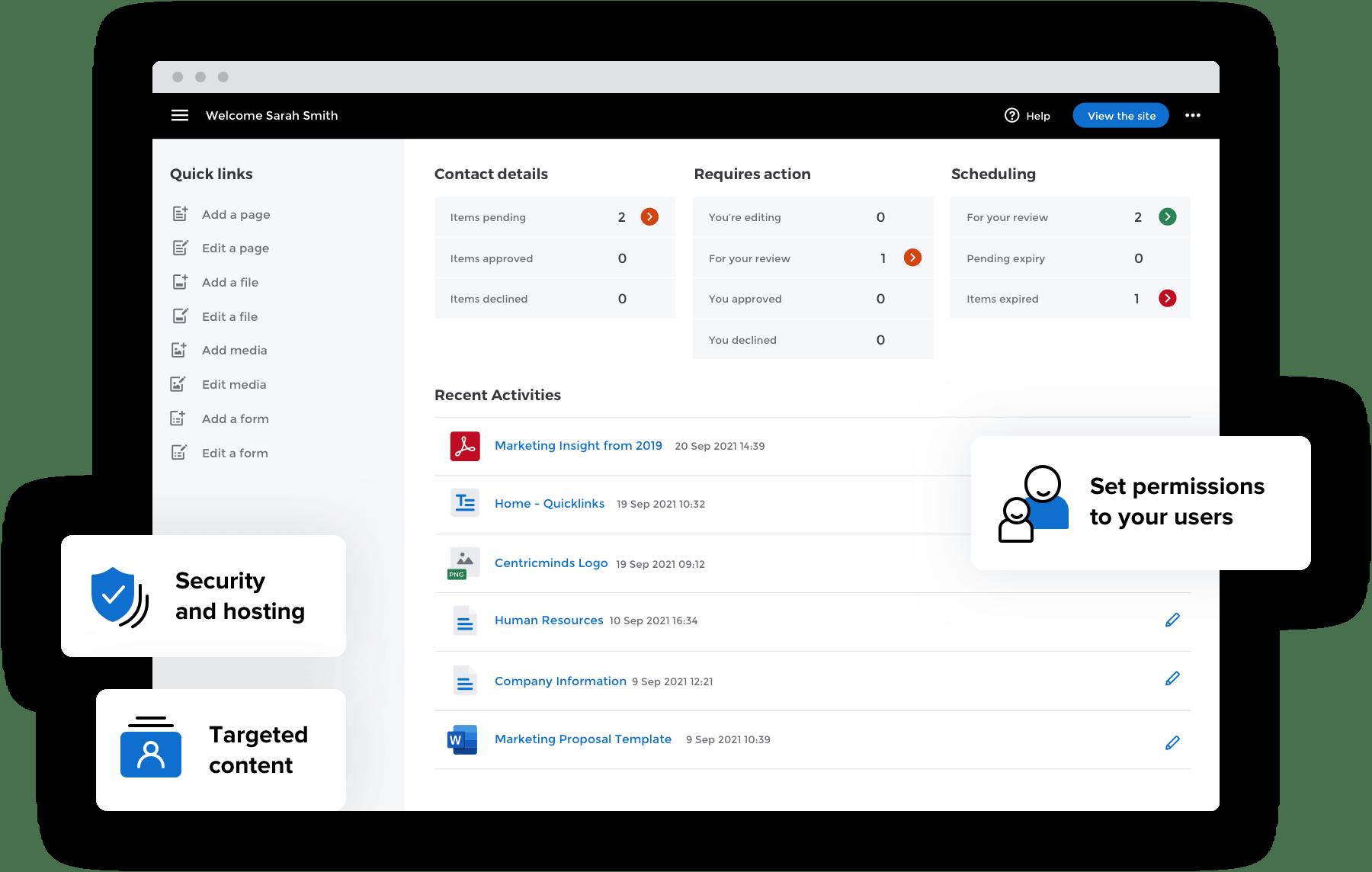 CentricMinds Digital Experience Platform
