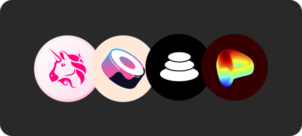 warp uniswap sushi balancer curve defi