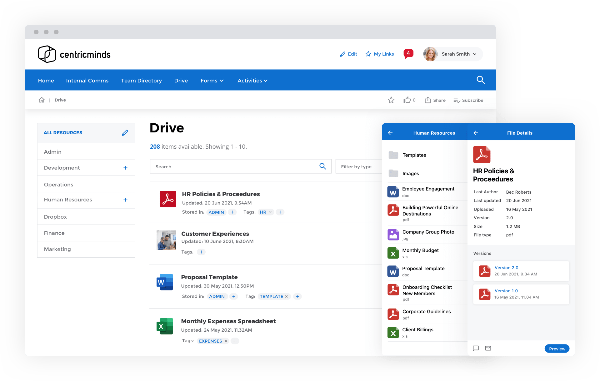 CentricMinds File Sharing & Management Drive