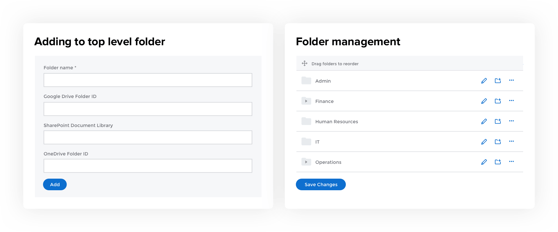 CentricMinds File Sharing & Management Organised Folders