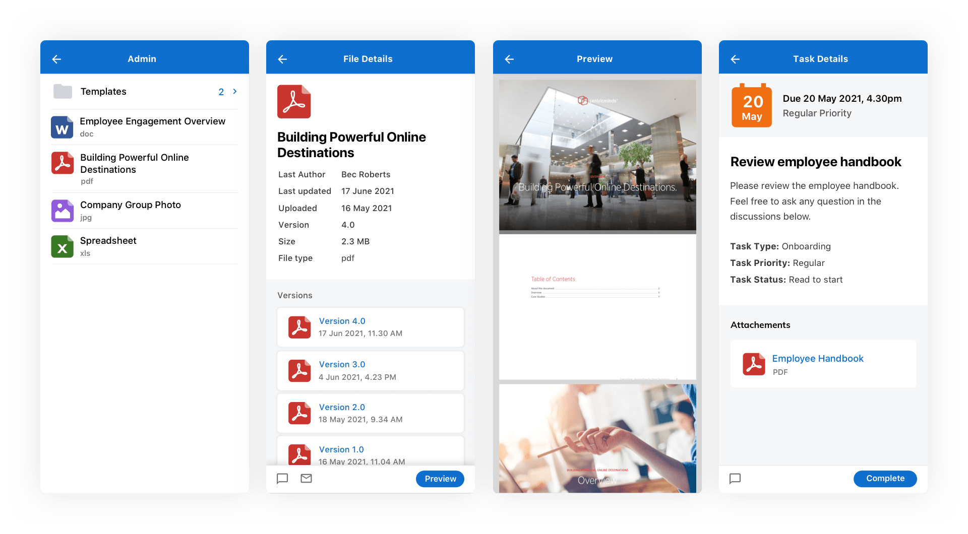 CentricMinds File Sharing & Management on your Mobile App