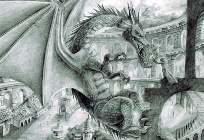 Dragon fantasy concept