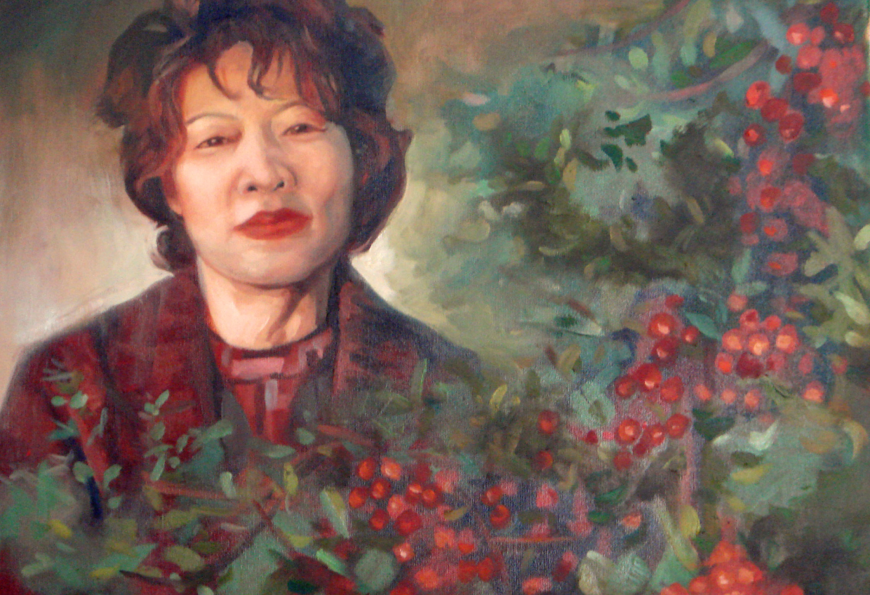 Aunt with flowers