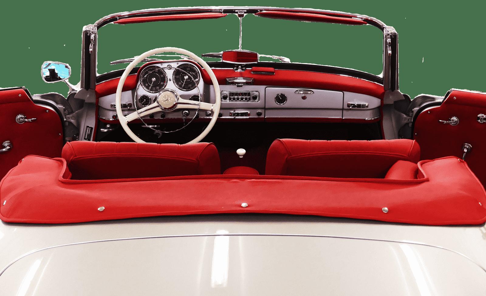 Oldtimer Classic 190SL Grau / Rot 2