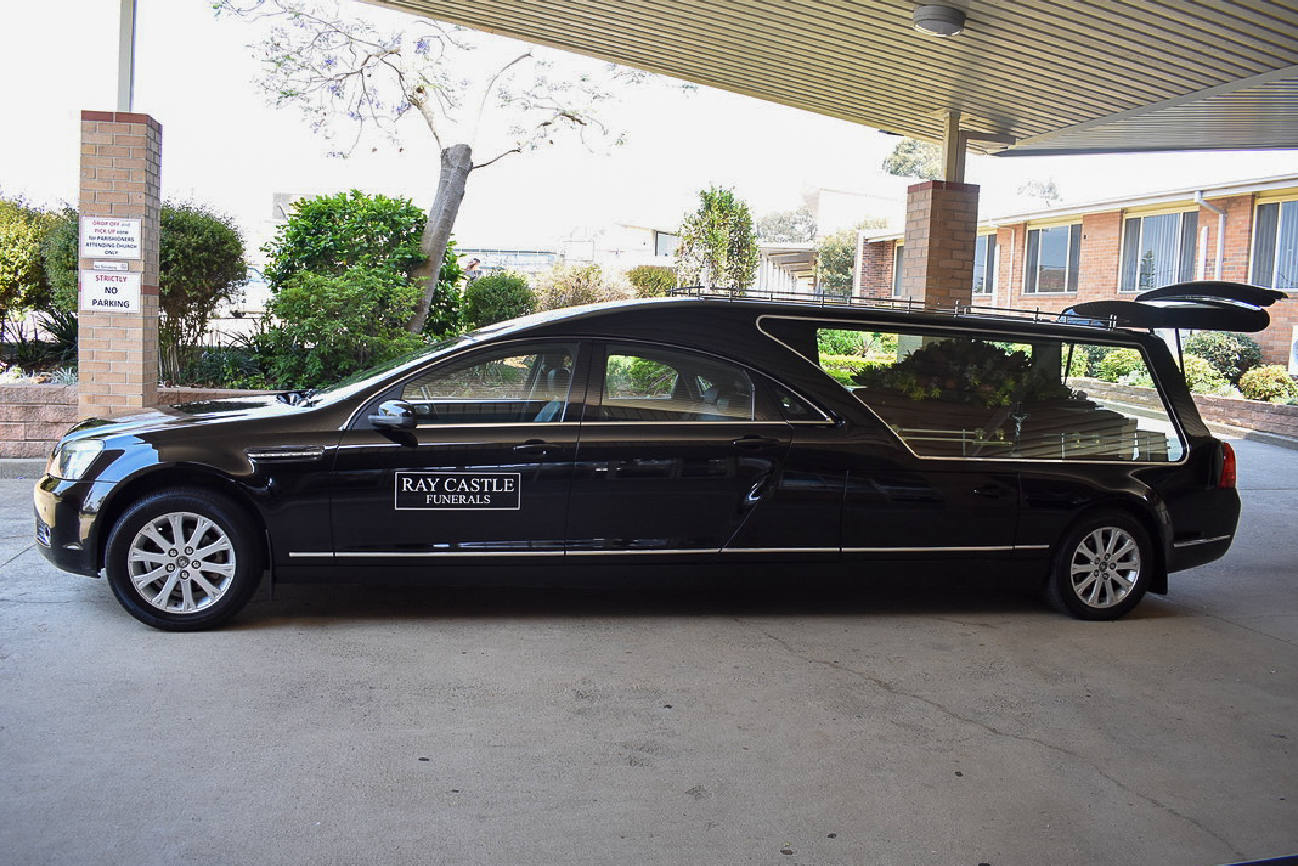 hearse at funeral