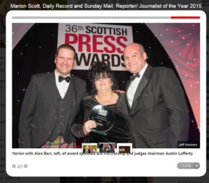 Marion Scott, Reporter of the Year 2015