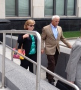 Donna, Dan Cisson leave court July 8, 2013