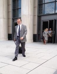 H. Garrard leaving federal court Charleston WV, July 2013