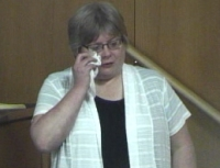 Liinda Gross on the stand