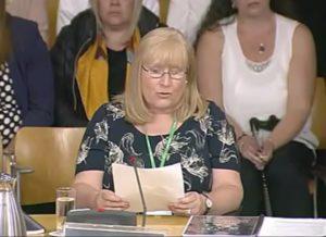 Elaine Holmes addresses Parliament