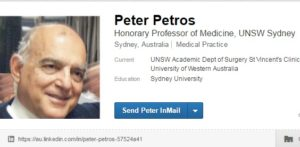 Peter Petros Linked in