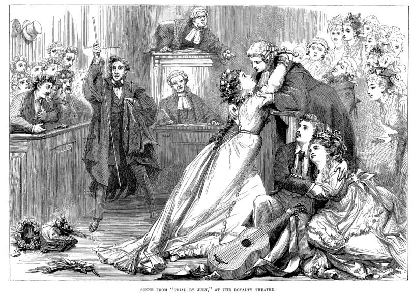 Trial by Jury, Gilbert and Sullivan, 1875 David Henry Friston, WikiCommons