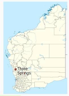 Three Springs Mine, So of Perth, AU