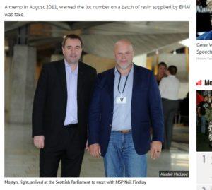 Steve Mostyn and MSP Neil Findlay