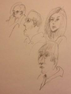 Jurors, art by Akre