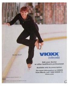 Dorothy Hamill in Vioxx ad