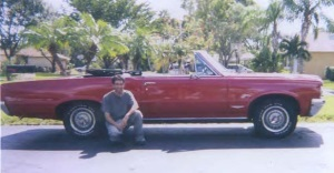 Bruce Rosenberg and '64 LeMans convertible