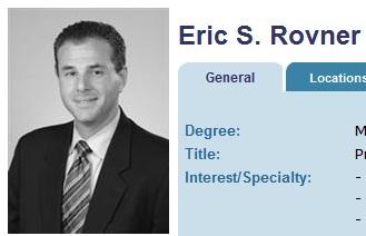 Dr. Eric Rovner, MUSC