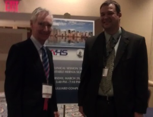 Dr. Byrnes Shouldice and David Schmidt, taken at the 2012 International AHS Conference (Congress) in New York, NY.