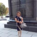 Estelle Tasz outside federal court