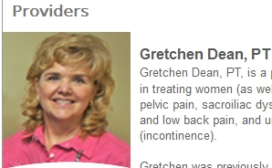 Gretchen Dean, physical therapist