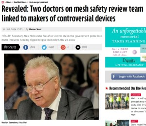 Scottish mesh conflicts of interest october 2014