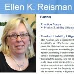 Ellen K. Reisman Arnold and porter special master