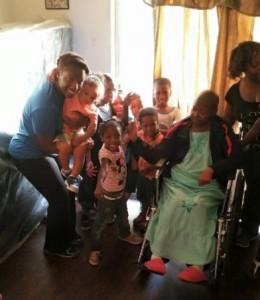 Linda and grandchildren