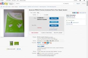 Prosima on ebay, Sept. 21, 2015