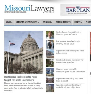 Mo lawyers weekly front page