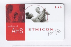 Ethicon logo from room key