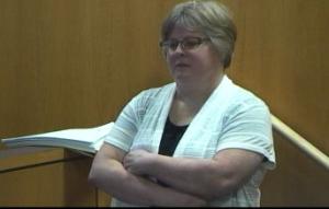 Linda Gross under cross examination