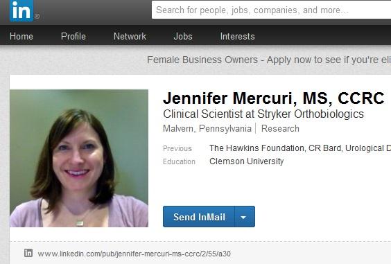 Jennifer Mercuri former bard bioscientist animal testing