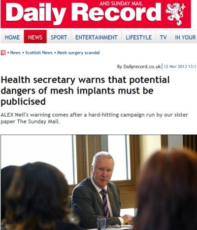 Scotish new headline on mesh