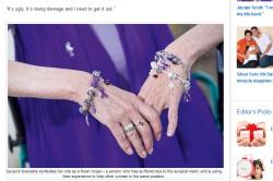 Jacqui Scott with TVT-No! mesh bracelets, NZ Women's Weekly