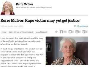 New Zealand Herald on Jacqui Scott