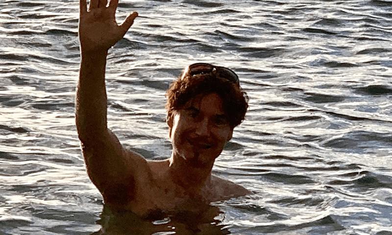 Vladae swimming in Hawaii