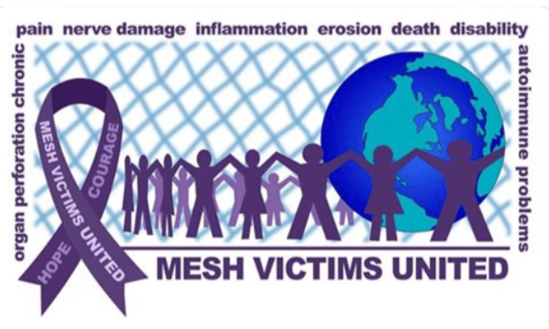 Mesh Victims United logo