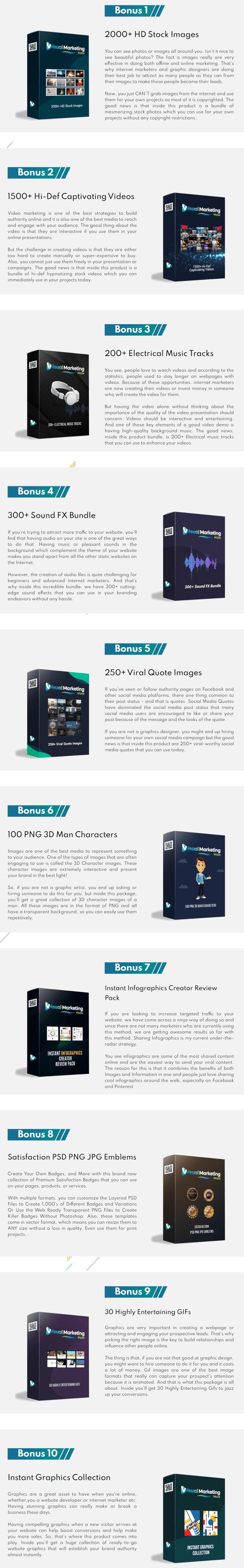 Visual Marketing Mate Bonus