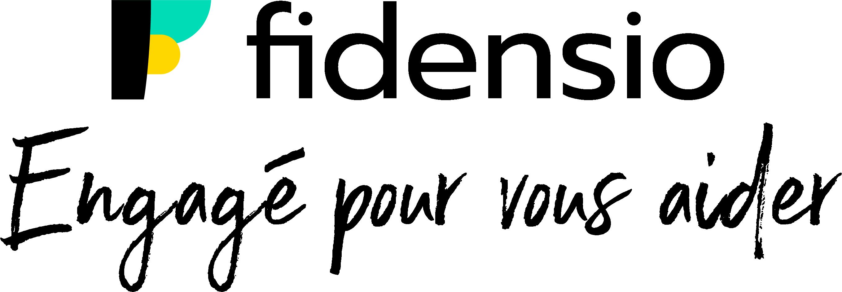 Logo fidensio, Engagé pour vous aider