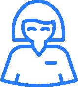 Blue and white nurse